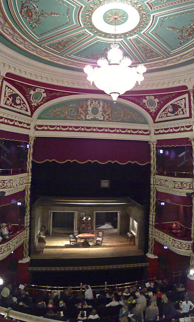Interior of the Gaeity Theatre in Dublin.