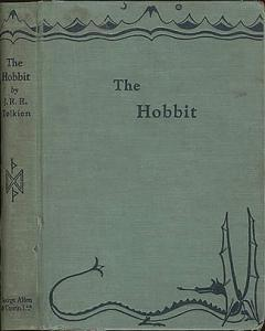 Cover art of 1937 The Hobbit.
