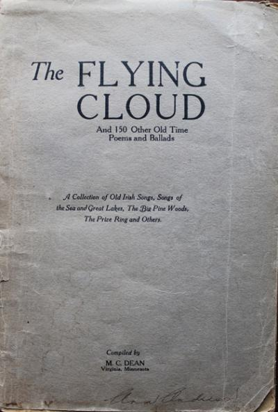 Flying Cloud songster - front cover