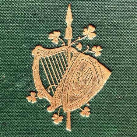 Embossed and gold image from book cover