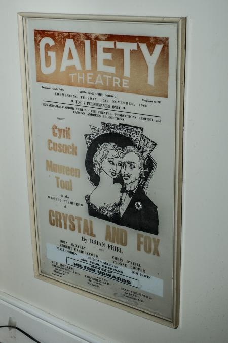 Theater poster from Gaeity, advertising Crystal and Fox.