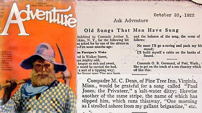 Oct 20, 1922. Magazine: Ask Adventure