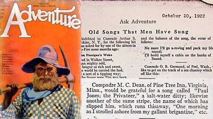 Oct 20, 1922. Magazine: Ask Adventure