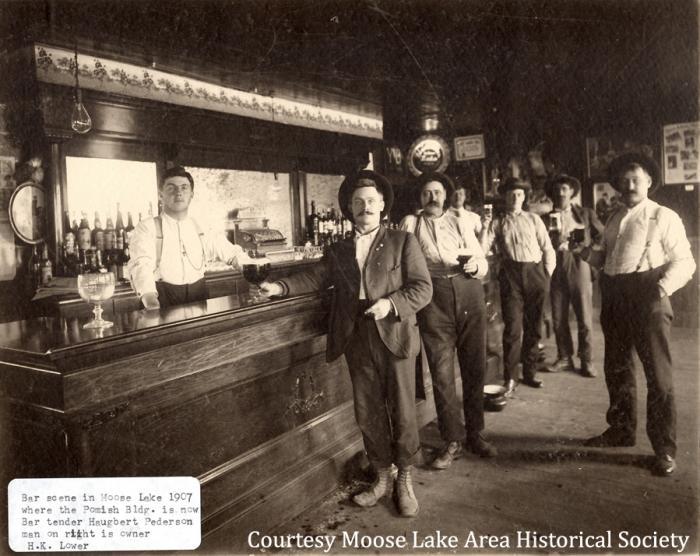 A saloon scene, 1920s