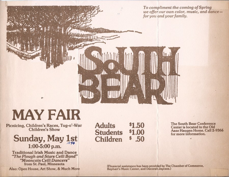 A poster for the South Bear  May Fair.