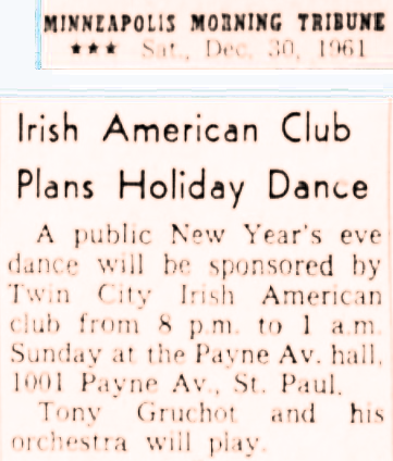 Newspaper clipping from 1961.