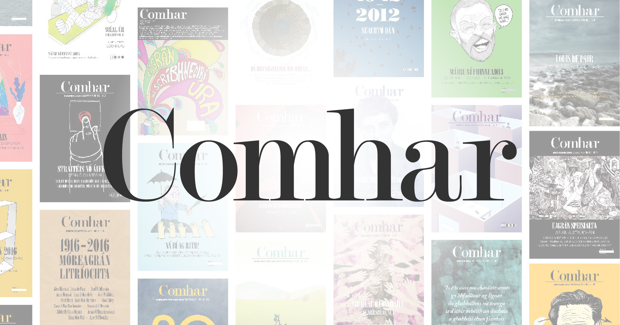 Magazine reading links like Comhar.