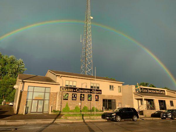 Celtic Junction brick and mortar +rainbow!