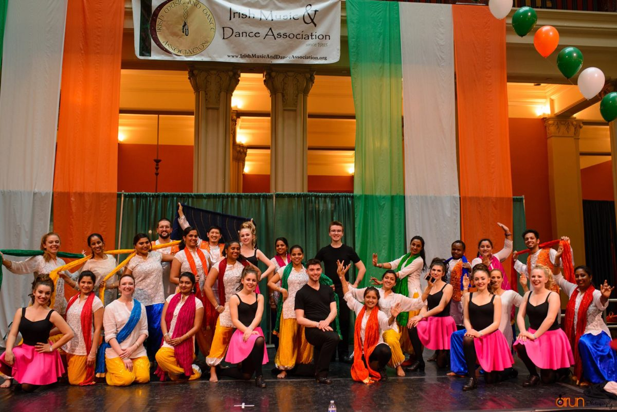 O'Shea Irish Dance and Bollywood Dance Scene performance group at 2018 St. Patrick's Day Celebration at the Landmark Center
