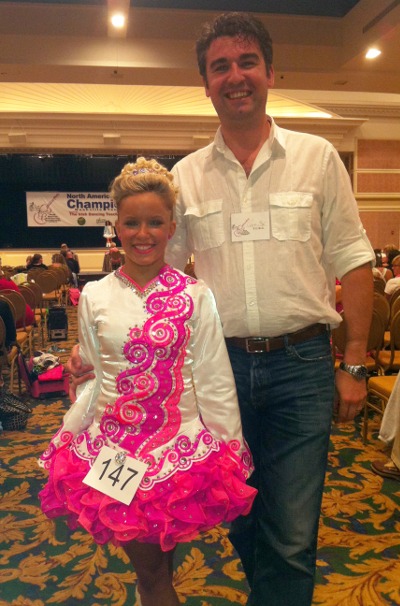 Cormac and Meghan, her first world qualifying place