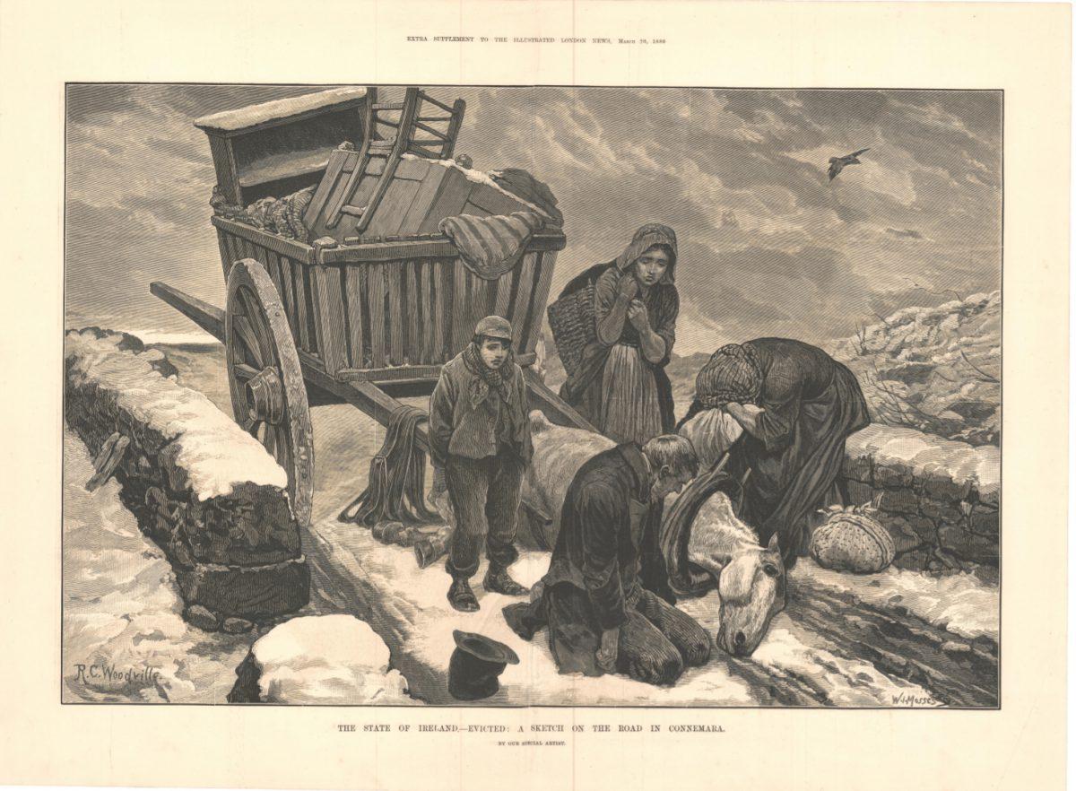Emigrants on the road in Connemara