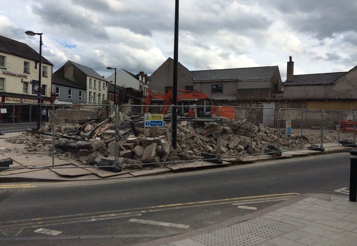 Demolished fire-station