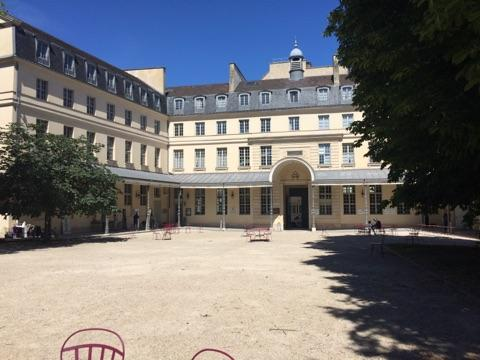 Courtyard of the former Irish College of Paris.