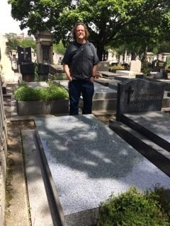 Patrick ODonnell at grave of Samuel Beckett
