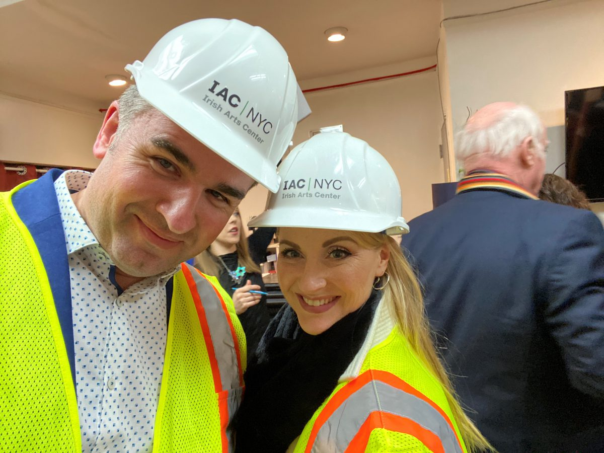 Cormac and Natalie at IAC/NYC during construction of new center.