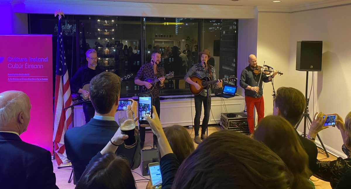 We Banjo Three, performing at the NYC Consulate reception in January.