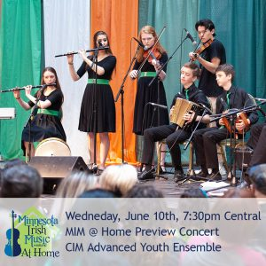 Advanced Youth Ensemble at Minnesota Irish Music Weekend.