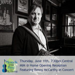 Benny McCarthy, accordion. Minnesota Irish Music Weekend.