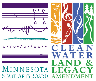 Minnesota State Arts Board and Clean Water Land & Legacy logos
