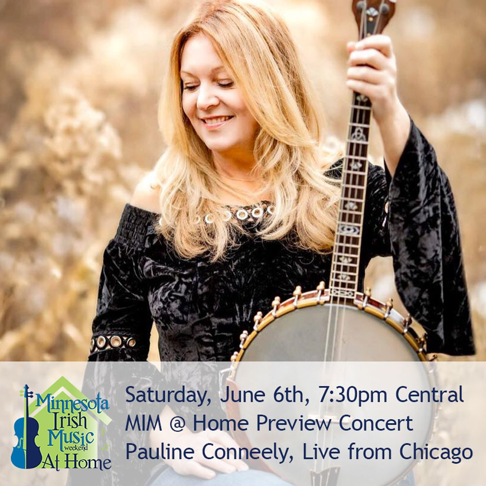 Pauline Conneely, banjo. Minnesota Irish Music Weekend