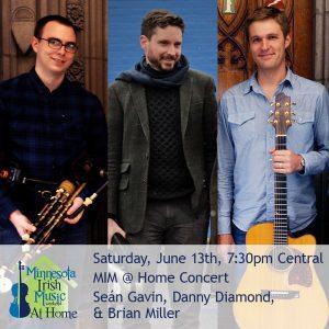 Master artists Sean Gavin, Danny Diamond, and Brian Miller. Minnesota Irish Music Weekend