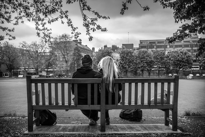 Relaxing in the Trinity College, Dublin by Giuseppe Milo