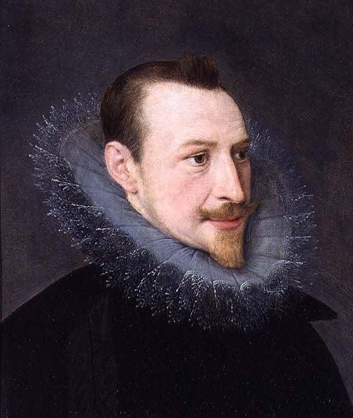Edmund Spenser oil painting