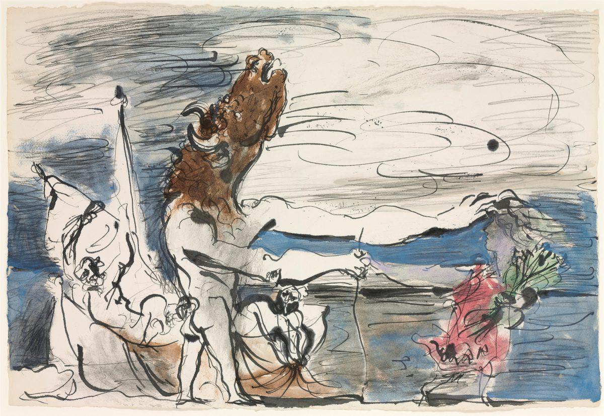 Minotaure aveugle conduit par une petite fille, Picasso 1934
