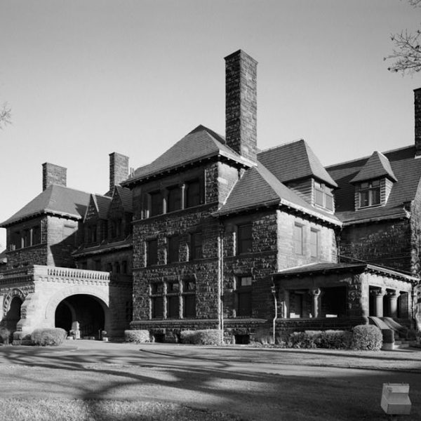 Black and white photo of James J. Hill House