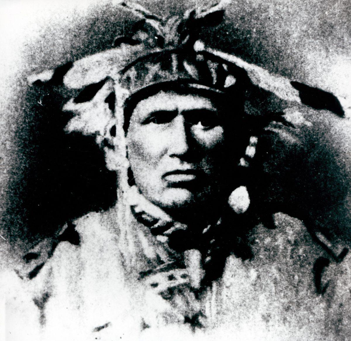 Chief Shingwauk at Robinson Huron Treaty Signing in 1850