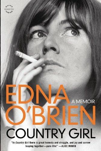 Edna O'Brien pictured on her memoir, smoking.