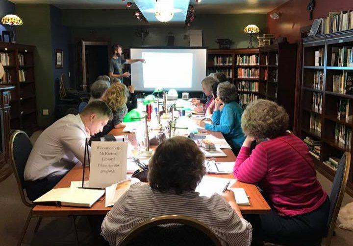Tom Jeffers teaching a class in the EML.