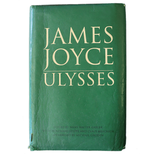 """""""Ulysses"""" by James Joyce, book cover"""